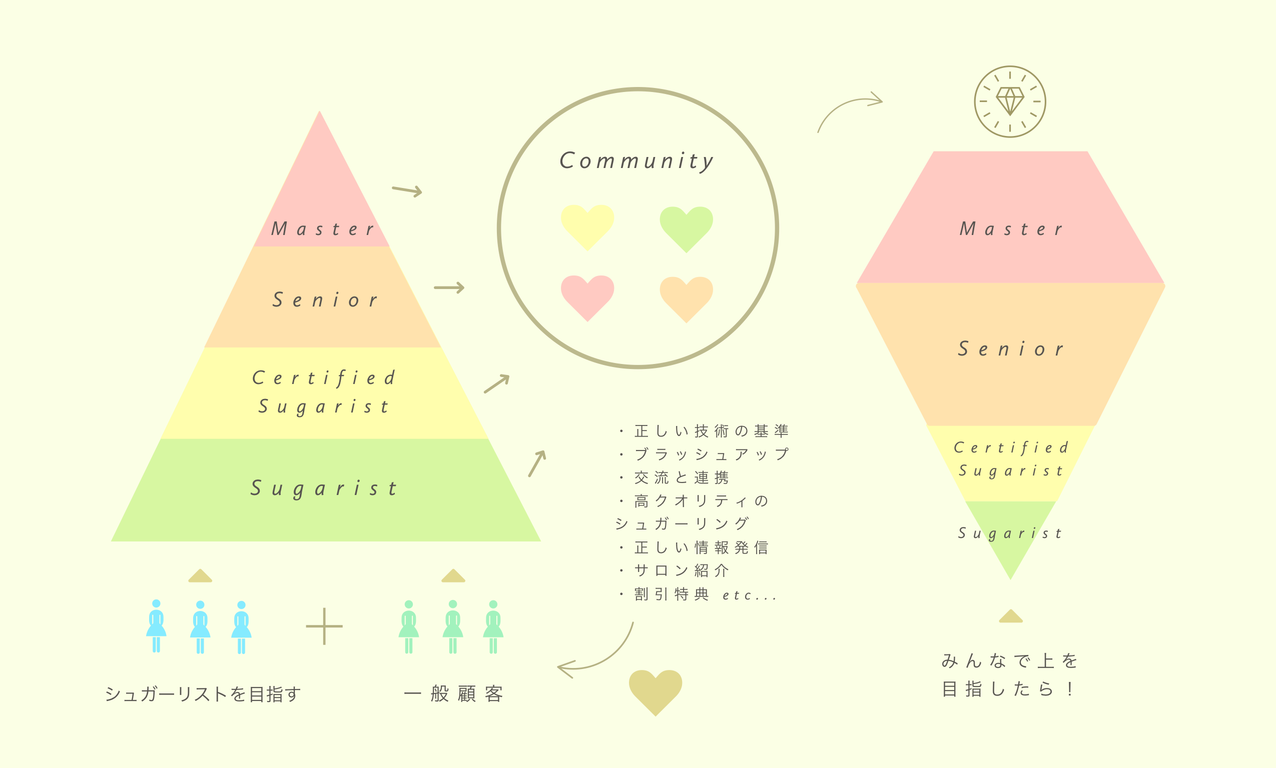 日本シュガーリング協会レベルアップ制度